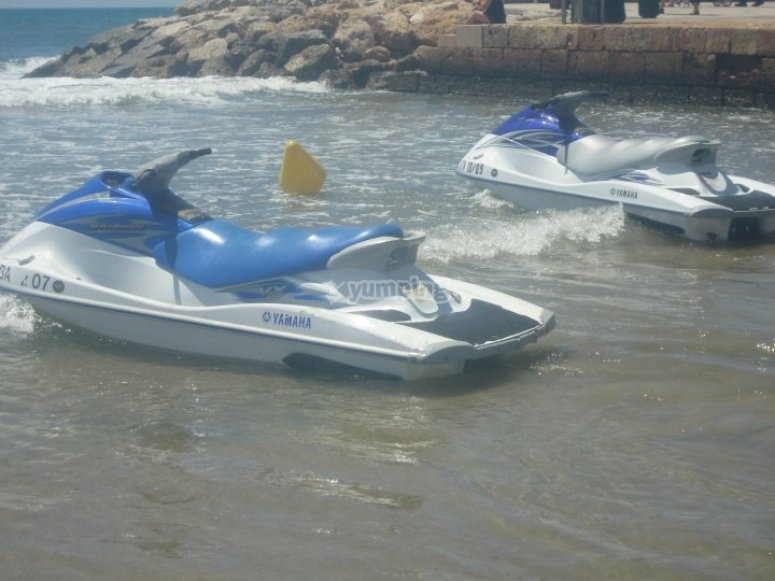 Our jet skis ready for you