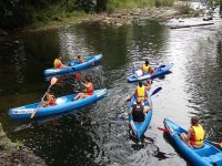 Descenso en canoas Río Asón Iniciacion y fotos