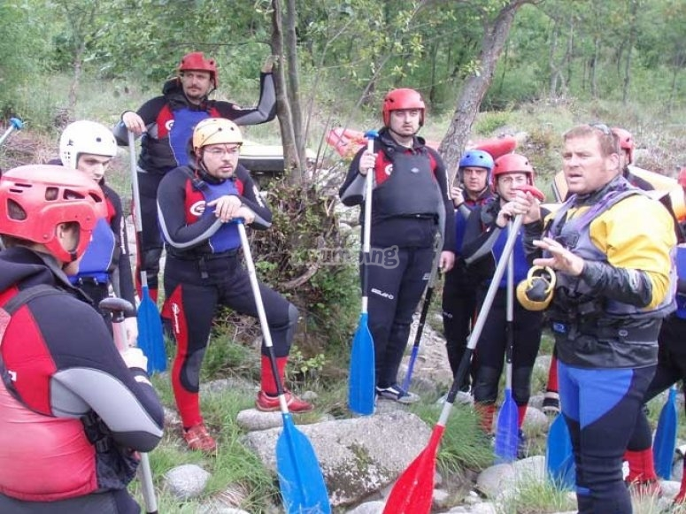 Charla previa a la ruta en canoa
