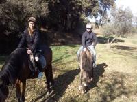 Couple horse ride route