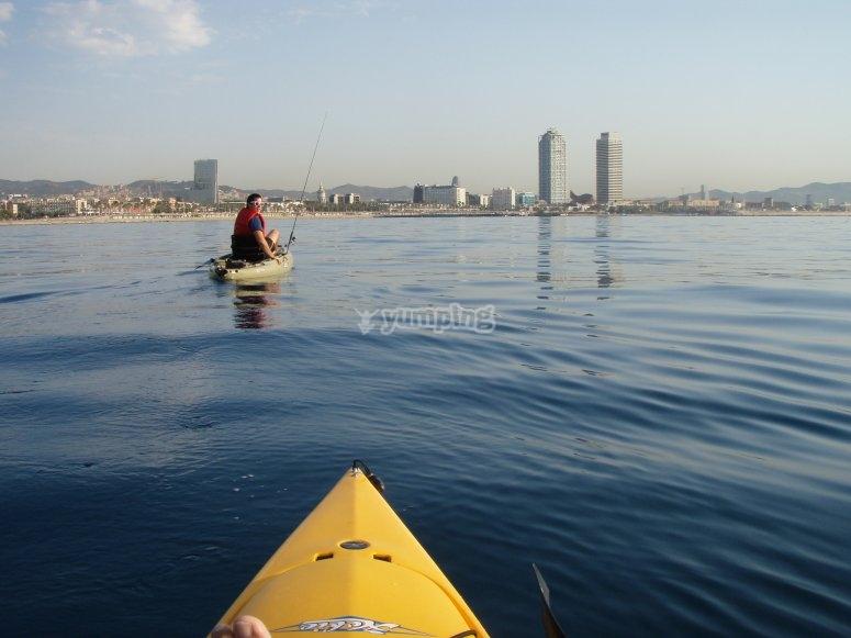 montato sul kayak