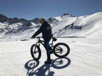 Fat Bike en la pista de esquí