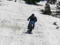 Con la fat bike por la nieve