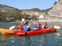 La famiglia in kayak