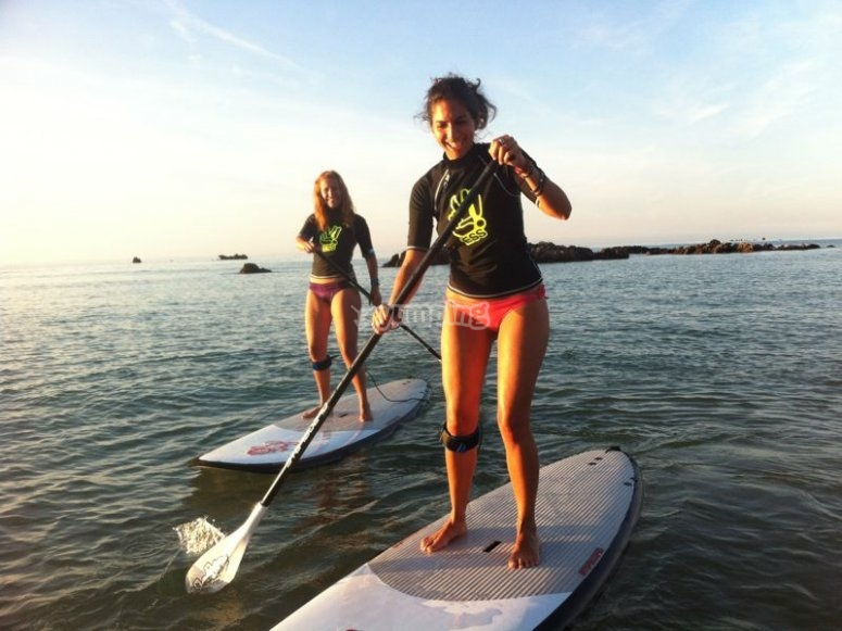 Divertido paddle surf