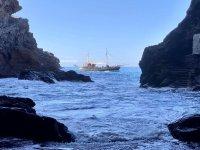 小船路线与食物和浮潜拉帕尔马儿童