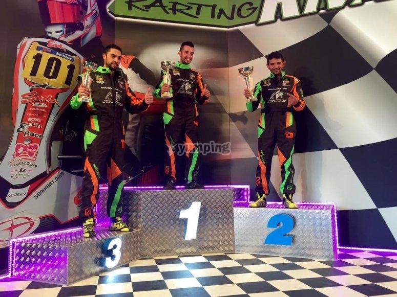 Podium de karting