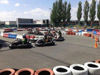 2 karting batches birthday in Rivas for children