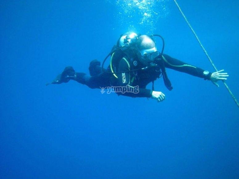 在穆尔西亚潜水