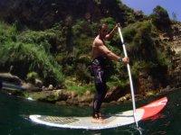 Paddle surf en la costa de Malaga