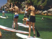 Paddle surf en grupo.