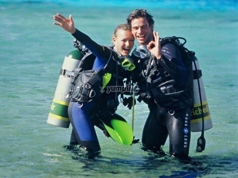 潜水员夫妇
