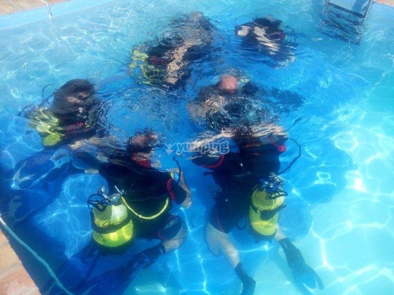 Buceo en nuestra piscina