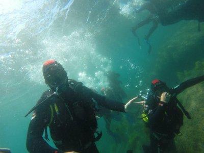 开放水域潜水洗礼Barbate两个