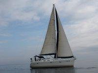 Partenze della barca a vela