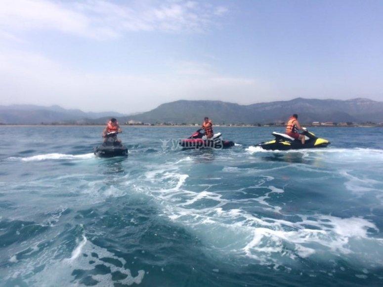 Ruta en motos de agua