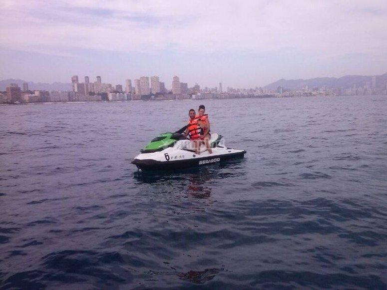 Recorrido en moto de agua en Benidorm
