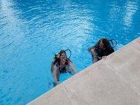 Primeras inmersiones en piscina