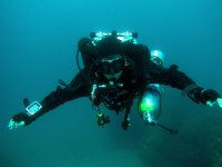 Submarinista en aguas de Almeria