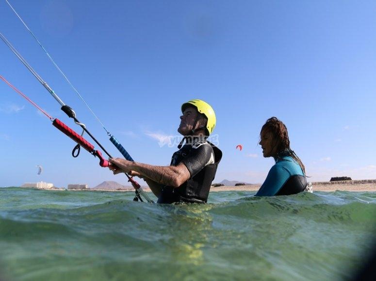 Kite en el agua
