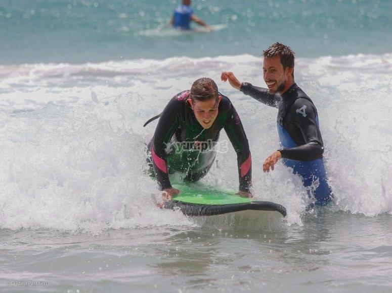 Iniciandose en surf