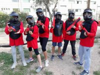 Equipo infantil de paintball