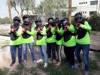 Grupo de paintball infantil