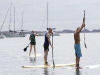 Clase de iniciación al paddle surf en Corralejo 2h