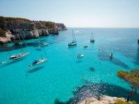 Aguas cristalinas en Menorca