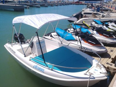 Boat rental without license in Alcossebre 3h
