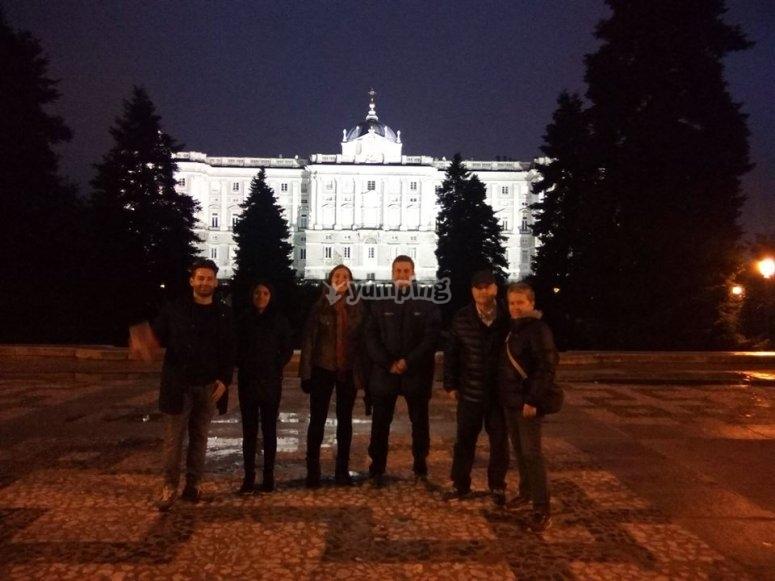 En el palacio Real de Madrid