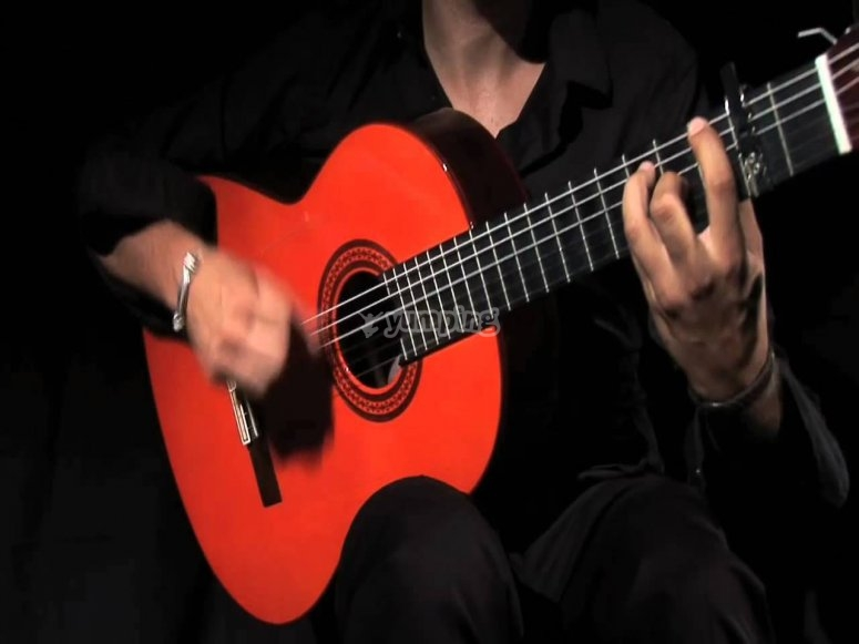 Disfrutando del espectáculo flamenco