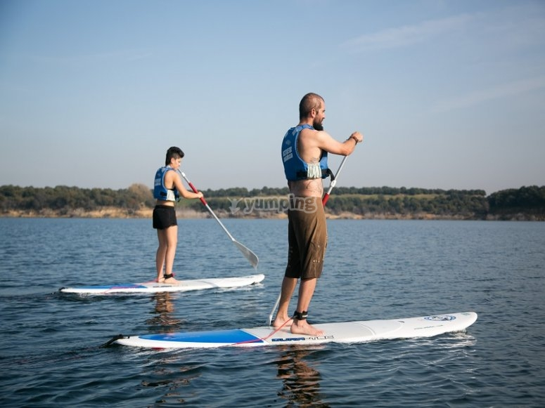 Session of paddle surf