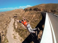 Launch to practice bungee jumping