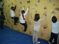 Climbing classes for children.