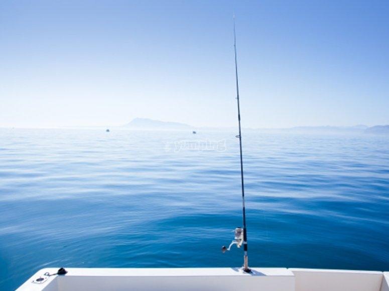 Pescando en la costa de Azahar