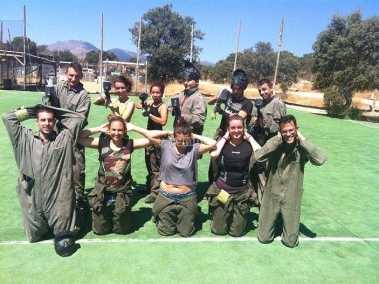 Derrotados de paintball