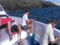Pescando en nuestro barco