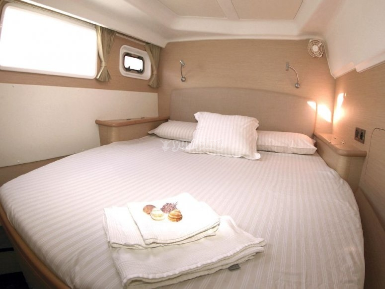 The interior of one of our cabins