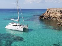 Boat in crystalline waters
