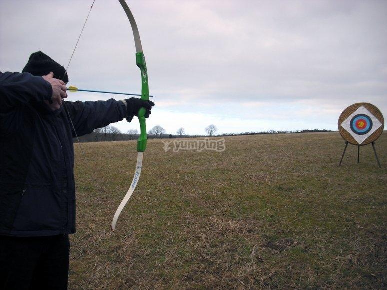 Probando con el tiro con arco