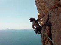 在Mar Menor旁边攀登