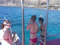 Practica snorkel en Lanzarote