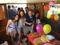 De celebración en barco por la Costa de Lanzarote