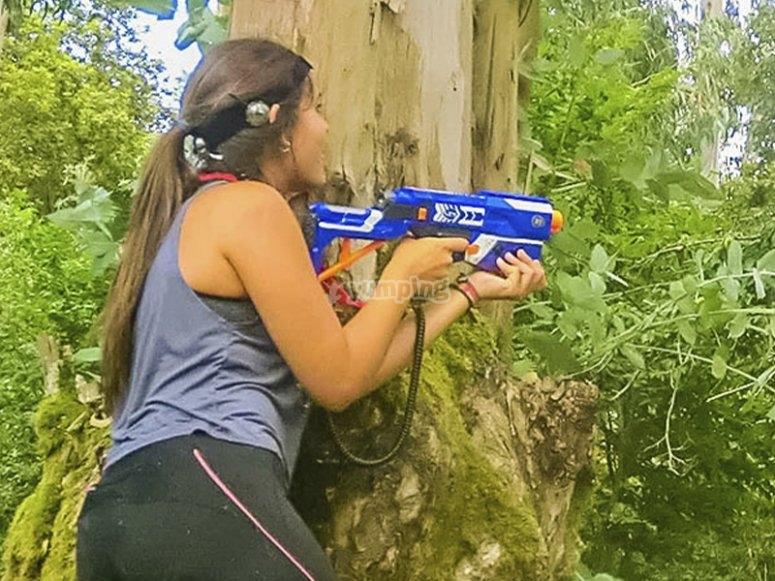 Playing at the Natural Park of Llanes