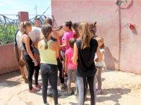 儿童工作坊骑在赫罗纳卡萨尔斯