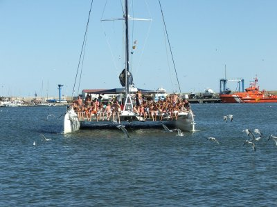 Catamaran cruise to Costa Dorada+lunch,children