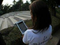 Buscando con el GPS de la tablet