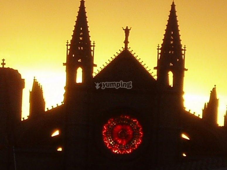 Catedral de Palma al atardecer