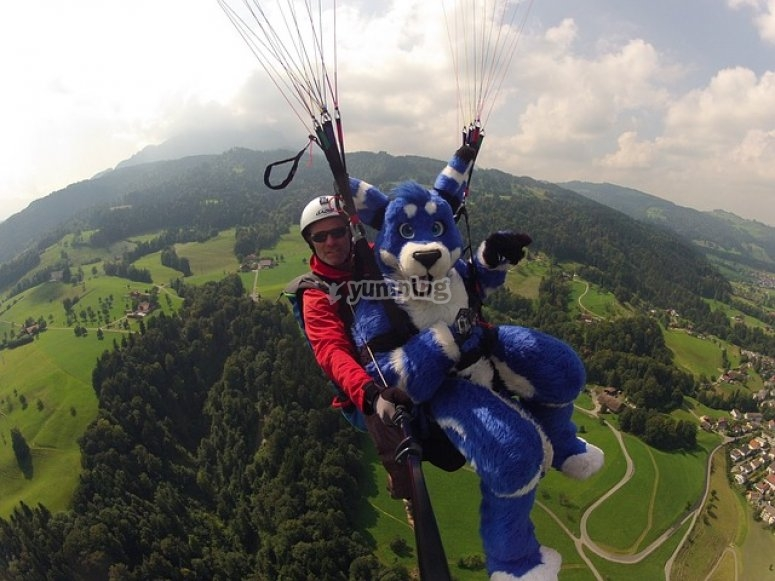 Paraglide with someone different